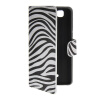 MOONCASE Zebra style Leather Side Flip Wallet Card Slot Stand Pouch чехол для Wiko Rainbow / 4G