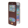 MOONCASE View Window Leather Side Flip Pouch Stand Shell Back ЧЕХОЛДЛЯ Apple iPhone 6 ( 4.7 inch ) Red mooncase view window leather side flip pouch stand shell back чехолдля apple iphone 6 plus white
