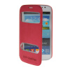 MOONCASE View Window Leather Side Flip Pouch Stand Shell Back ЧЕХОЛДЛЯ Samsung Galaxy Grand Duos i9080 i9082 Hot pink