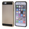 MOONCASE ЧЕХОЛДЛЯ iPhone 6 / 6S (4.7) Soft Silicone Gel TPU Skin With Card Holder Protective Gold rock royce tpu holder case for iphone 6 6s rose gold
