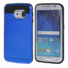 MOONCASE ЧЕХОЛ ДЛЯ Samsung Galaxy S6 Edge Soft Silicone Gel TPU Skin With Card Holder Protective Dark Blue аксессуар чехол накладка samsung galaxy s7 edge brosco blue ss s7e tpu blue