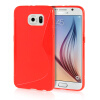 MOONCASE S - Line Soft Flexible Silicone Gel TPU Skin Shell Back ЧЕХОЛ ДЛЯ Samsung Galaxy S6 Red embossed tpu gel shell for ipod touch 5 6 girl in red dress