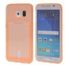 MOONCASE чехол для Samsung Galaxy S6 Edge Flexible Soft Gel TPU Silicone Skin Slim Durable With Card Slot Cover Orange mooncase litchi skin золото chrome hard back чехол для cover samsung galaxy s6 edge красный