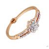 синий кристал винтаж цветочные браслеты кристалл позолоченные цепи, браслеты клип о женских украшений напульсник