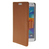 MOONCASE Slim Leather Flip Wallet Card Pouch with Kickstand Shell Back ЧЕХОЛДЛЯ Samsung Galaxy S5 I9600 Brown mooncase slim leather side flip wallet card slot pouch with kickstand shell back чехол для samsung galaxy a3 brown