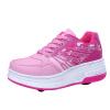 Женщины Girl моды Авто двойного колеса зашнуровать обувь кроссовки спортивные роликовые коньки коньки onlitop 223f 37 40 blue 806164