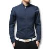 высокое качество mens платье рубашка длинные рукава хлопок мужского бизнес банкетов бренд Fashion официальные футболки слим мужчин случайные мягкие футболки