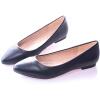 Направленные пальцы ноги Обувь Весна Офисная работа Твердая накладка на обувь для женщин Плюс Размер Белый Черный Повседневная обувь Женская одежда Кожа женская обувь для одной обуви женская обувь flattie кожаная обувь asakuchi одиночная обувь