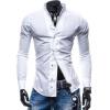 Zogaa Рубашка Чистый цвет Тонкий Повседневная мода новые люди рубашка casa moda цвет терракотовый