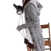 Женская Теплый вязать длинным рукавом с капюшоном кардиганы траншеи и пиджаки свитер пальто большие кардиганы