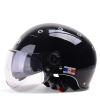 Mustang (Yema) 332 мотоциклетный шлем электрический автомобиль Harley половина шлем мужчин и женщин Four Seasons двойной объектив автомобильный аккумулятор яркий черный шлем лето Размер мото шлем mustang 619