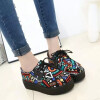 криперс женской обуви женщина случайно плюс размер zapatos Mujer дамы криперс туфли на платформе женщины квартир обувь платформы женские латинский танец обувь zapatos де бейл бальные туфли женщина высокое качество резины сальса коровьей 2015 новый бесплатная доставка