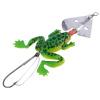 1шт Резина Лягушка Мягкая прикормы Bass Приманка снасти Crank Крючки 9 см / 3,54 Зеленый & желтый