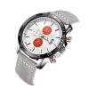 Мужские спортивные хронографы Аналоговые кварцевые часы с кожаной лентой