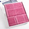 Матовые полотенце текстильного хлопок окрашенной пряжи Добби Sacred квадратных полотенца, банные полотенца из трех частей коробки красного подарка