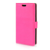 MOONCASE Litch Skin Leather Side Flip Wallet Card Slot Pouch Stand Shell Back ЧЕХОЛ ДЛЯ LG L Bello D331 Hot pink mooncase litch skin leather side flip wallet card slot pouch stand shell back чехол для lg l bello d331 black