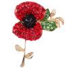 YAZILIND О себе Королевский британский Diamante Мак цветок брошь брошь Пен знаменитости Нью- знаменитости в челябинске