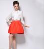 Lovaru ™ 2015 Весной и летом горячая новая цветом простой юбка в складку завод прямой моды диких юбка в складку printio сад земных наслаждений