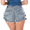 648 # новый летний сексуальный ночной костюм, женские шорты с высокой талией, джинсы, шорты и джинсы - тонкие.