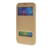 MOONCASE Samsung Galaxy S5 I9600 чехол для View Slim Leather Flip Pouch Bracket Back Cover Gold для samsung galaxy i9600 s5 g900h жилищем задней части средней рамки шатона объектива камеры