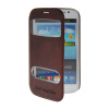 MOONCASE View Window Leather Side Flip Pouch Stand Shell Back ЧЕХОЛДЛЯ Samsung Galaxy Grand Duos i9080 i9082 Red