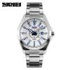 SKMEI 2016 Brand New Luxury Business Watch для мужчин Аналоговые стальные серебряные часы Модные повседневные наручные часы