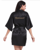 Короткая невеста Robe Bridemaid Silk Satin Kimono dressing Gown Sleepwear Халат