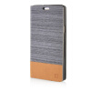 MOONCASE Canvas Design Leather Side Flip Wallet Pouch Stand Shell Back ЧЕХОЛ ДЛЯ Samsung Galaxy A7 Dark Brown luxury stand flip