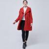 BURDULLY европейский стиль Элегантный Твердые женские хаки шерстяные пальто зима 2018 Черный двубортный пальто отложной воротник пальто пальто