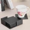 6 шт игрушки черная кожа подстаканники набор чайная чашка коврик коврик коврик коврик изоляции подставки чаши творческих