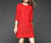Lovaru ™ 2015 новых прибытия высокого качества осень 2015 новых женщин и зимой полый Тонкий красное платье вышитые рукава карандаш skir lovaru ™2015 новых зимой высокий