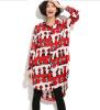 Lovaru ™ Мультфильм большие ярдов долго разделе оптовые женщины нижнего рубашку кардиган шифона платье платье кардиган