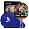 Бабочка (Баттерфляй) 4-звездная ракетка для настольного тенниса двухсторонняя анти-пластиковая доска для настольного тенниса 402 горизонтальная бинокль ракетка для настольного тенниса joola competition gold 59560