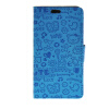 MOONCASE Cute Little Witch Leather Side Flip Wallet Card Holder Stand Pouch ЧЕХОЛ ДЛЯ LG Spirit H440 Blue