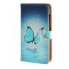 MOONCASE Microsoft Lumia 435 случая Голубая бабочка кожаный бумажник флип Слот для карты Кронштейн задняя крышка Крышка A 06 чехлы для microsoft lumia 435