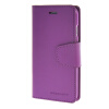 MOONCASE чехол для iPhone 6 Plus (5.5) PU Leather Flip Wallet Card Slot Stand Back Cover Purple icarer wallet genuine leather phone stand cover for iphone 6s plus 6 plus marsh camouflage