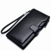 Haotton (HAUTTON) QB140 многофункциональный кошелек кожаный кошелек длинный кошелек бизнес случайный мужской рука сумка пара модели карта черный