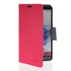 MOONCASE Classic cross pattern Leather Side Flip Wallet Card Pouch Stand Soft Shell Back чехол для LG G3 Hot pink