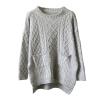 Женщины свитер твист кос Карманный Свободный пуловер Трикотаж Зимний Перемычка Повседневный Топ повседневный свитер mirstores повседневный свитер