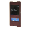 MOONCASE Sony Xperia Z4 чехол для View Leather Flip Pouch Bracket Back Cover Red чехол для sony xperia z4 compact deppa air case red