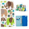 MOONCASE ЧЕХОЛДЛЯ iPhone 6 Plus (5.5) Flip Leather Wallet Card Slot Foldable Stand Feature [Pattern series] /a21 icarer wallet genuine leather phone stand cover for iphone 6s plus 6 plus marsh camouflage