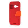 MOONCASE View Window Leather Side Flip Pouch Ultra Slim Shell Back ЧЕХОЛДЛЯ HTC One Mini 2 (M8 Mini) Red встраиваемая акустика speakercraft profile accufit ultra slim one single asm53101 2