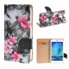 MOONCASE Samsung Galaxy J5 ЧЕХОЛДЛЯ Flower Style Leather Flip Wallet Card Slot Bracket Back Black