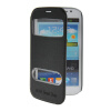 MOONCASE View Window Leather Side Flip Pouch Stand Shell Back ЧЕХОЛДЛЯ Samsung Galaxy Grand Duos i9080 i9082 Black rechargeable 2300mah li ion battery for samsung galaxy grand i9080 i9082 black white