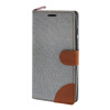 MOONCASE ASUS Zenfone 5 , Leather Wallet Flip Card Holder Pouch Stand Back ЧЕХОЛ ДЛЯ ASUS Zenfone 5 A501CG Grey mercury goospery milano diary wallet leather mobile case for iphone 7 plus 5 5 grey