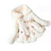 Девочка искусственного меха Пальто и пиджаки Перл теплый флис зимой участник куртка детский зимний комбинезон зимний комбинезон
