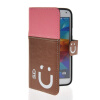 MOONCASE Leather Side Flip Wallet Card Slot Pouch Stand Shell Back ЧЕХОЛ ДЛЯ Samsung Galaxy S5 I9600 Pink Brown mooncase leather side flip wallet card slot pouch stand shell back чехол для samsung galaxy core i8260 i8262 black white