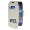 MOONCASE View Window Leather Side Flip Pouch Stand Shell Back ЧЕХОЛДЛЯ Samsung Galaxy Ace 3 S7270 / S7272 White mooncase soft silicone gel side flip pouch hard shell back чехолдля samsung galaxy s6 black