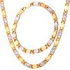 Двухцветный золото Эфиопии комплект ювелирных изделий оптом модные 18-каратного золота и платины покрытием золото Браслет ожерелья комплект ювелирных изделий для мужчин