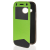 MOONCASE View Window Leather Side Flip Wallet Card Slot Pouch Stand Soft Shell чехол для Htc One Mini 2 ( M8 Mini ) Green чехол для one m8 artske air soft ac uwe m8 white
